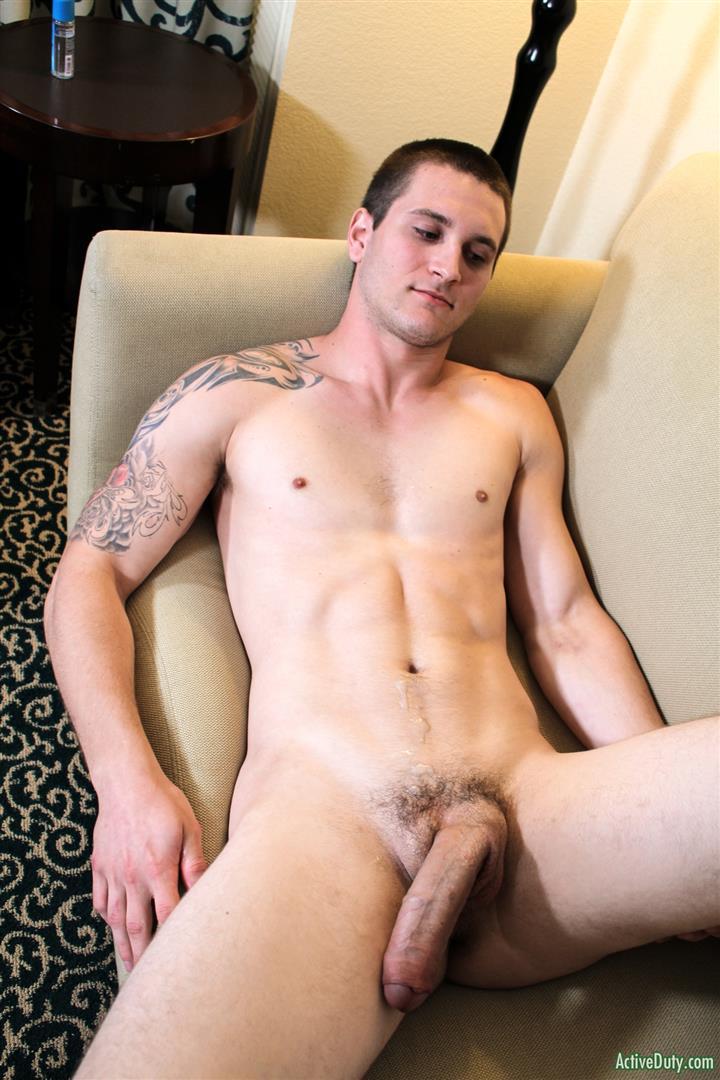 Active Duty Allen Lucas Army Private Jerking Off Big Uncut Cock Amateur Gay Porn 14