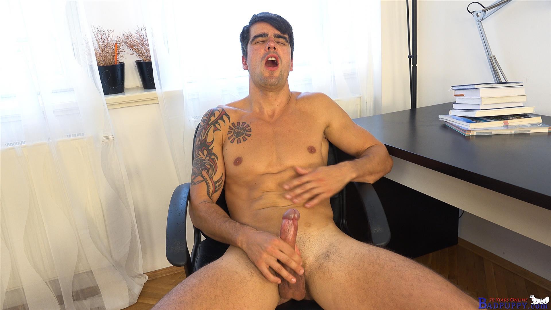 Badpuppy Milan Pis Straight Guy With Big Uncut Cock Masturbating Amateur Gay Porn 15