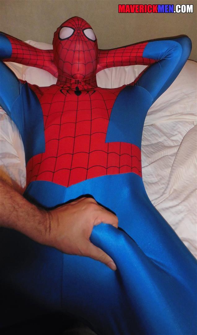 Maverick Men Spiderman With A Big Black Dick Bareback Threesome Amateur Gay Porn 04