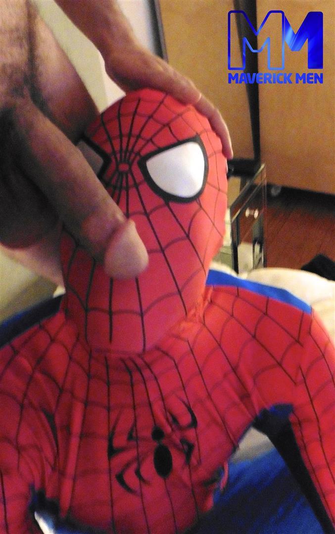 Maverick Men Spiderman With A Big Black Dick Bareback Threesome Amateur Gay Porn 07