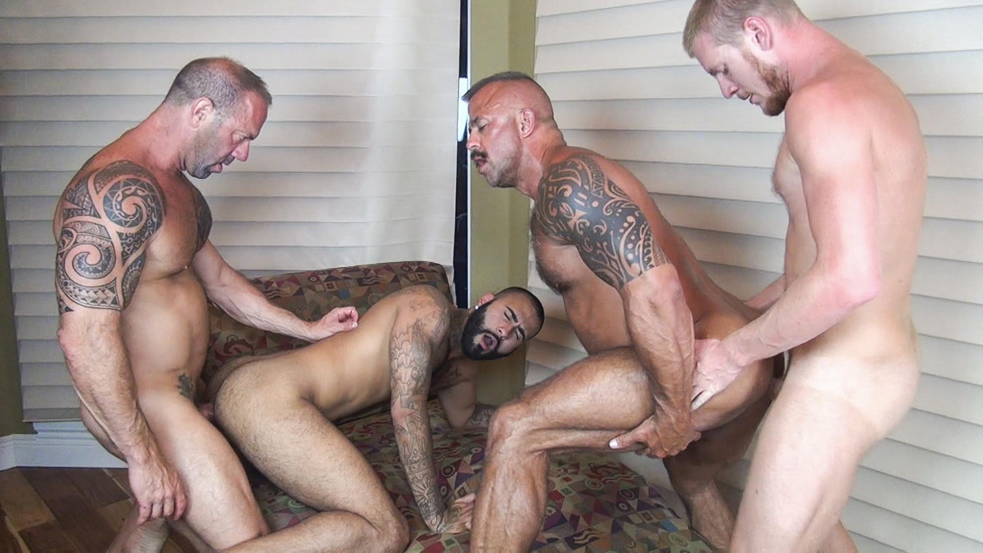 Raw Fuck Club Vic Rocco and Rikk York and Billy Warren and Job Galt Bareback Daddy Amateur Gay Porn 09