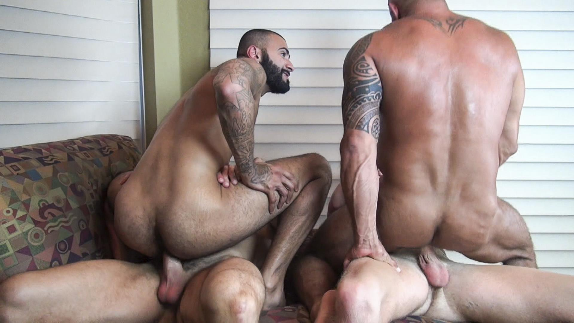 Raw Fuck Club Vic Rocco and Rikk York and Billy Warren and Job Galt Bareback Daddy Amateur Gay Porn 13