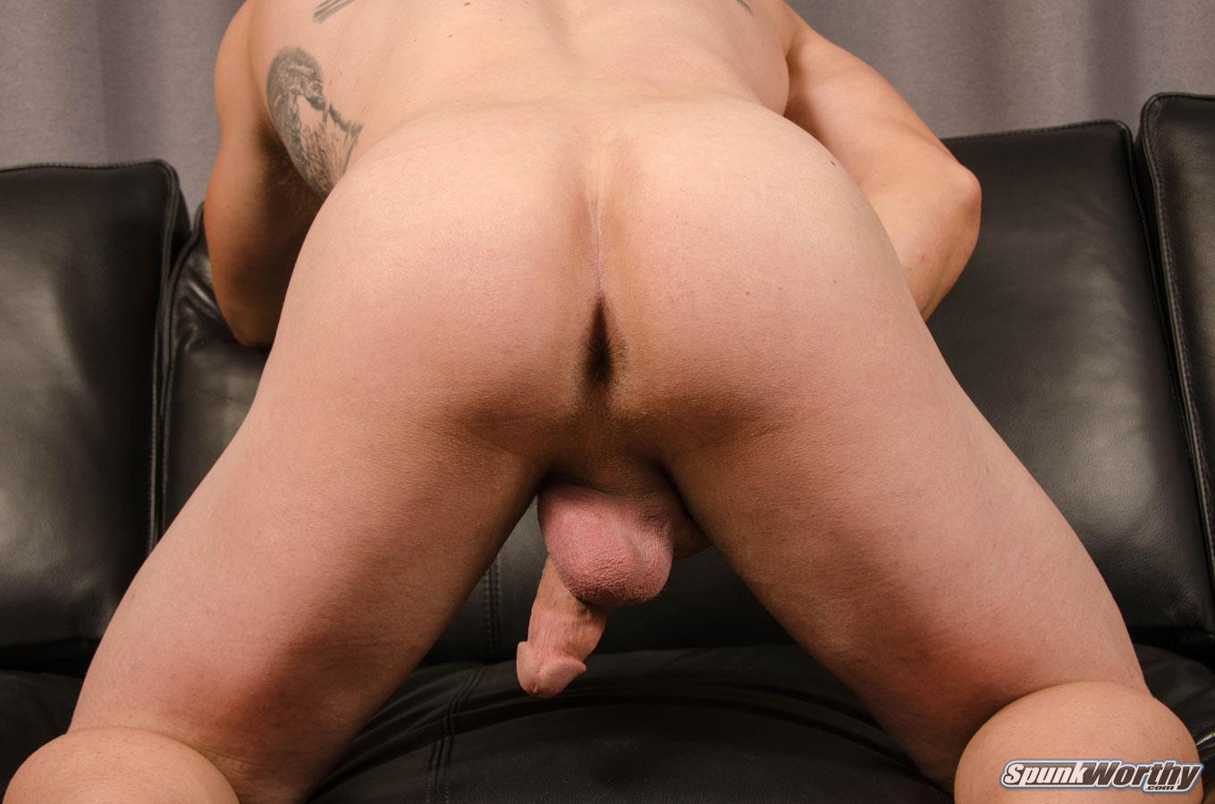 SpunkWorthy Avery Straight Army Soldier Jerking Off Big Cock Amateur Gay Porn 13