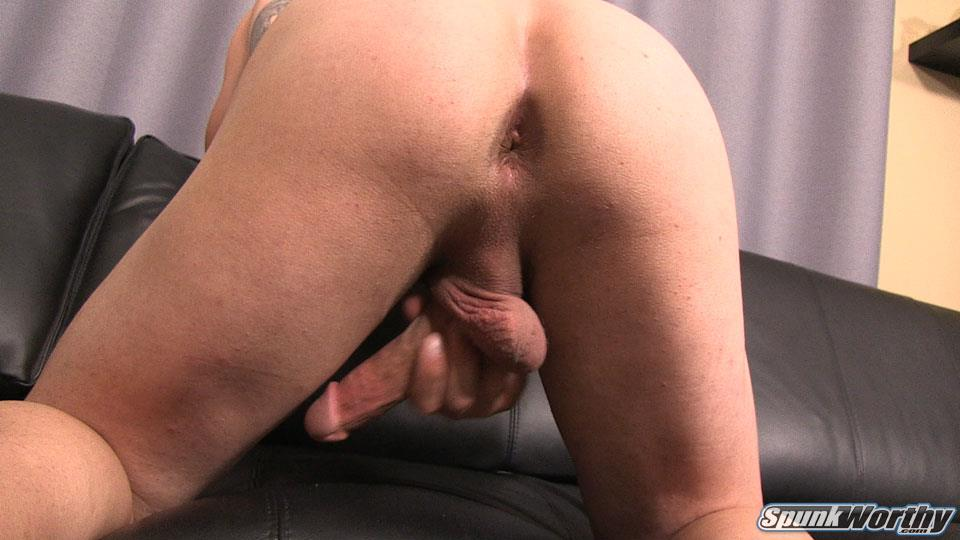 SpunkWorthy Avery Straight Army Soldier Jerking Off Big Cock Amateur Gay Porn 25