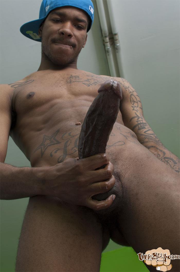 Thug Boys Black Noir Big Black Cock Jerk Off Video Amateur Gay Porn 17