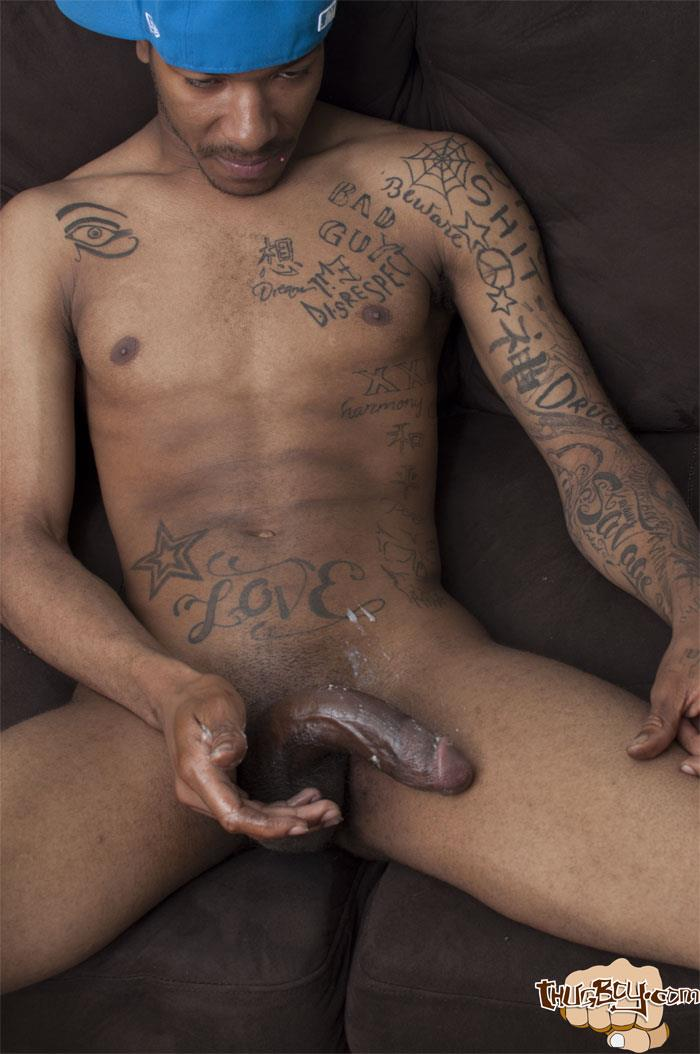 Thug Boys Black Noir Big Black Cock Jerk Off Video Amateur Gay Porn 43