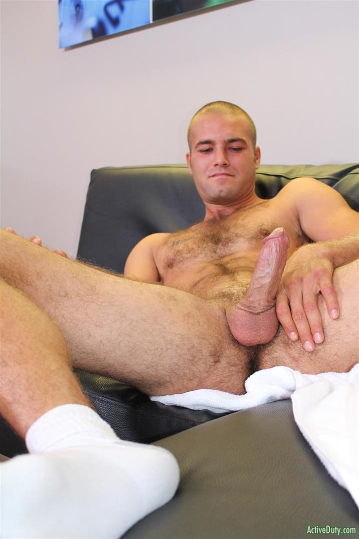 Active Duty Sean Naked Army Soldier With A Thick Cock Amateur Gay Porn 09