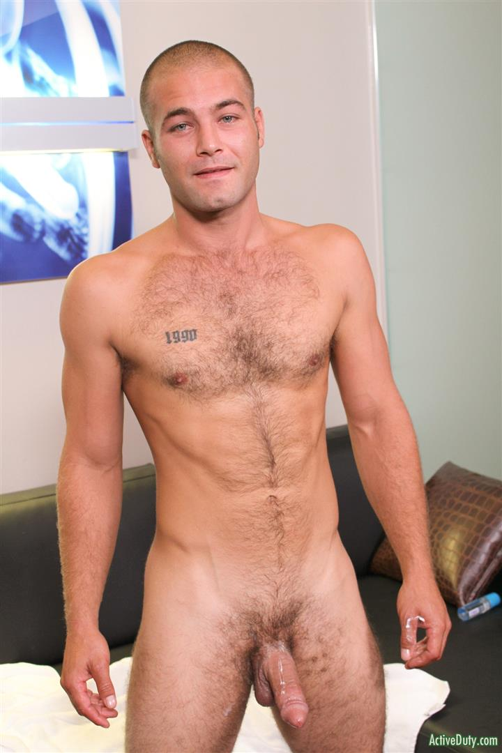 Active Duty Sean Naked Army Soldier With A Thick Cock Amateur Gay Porn 14