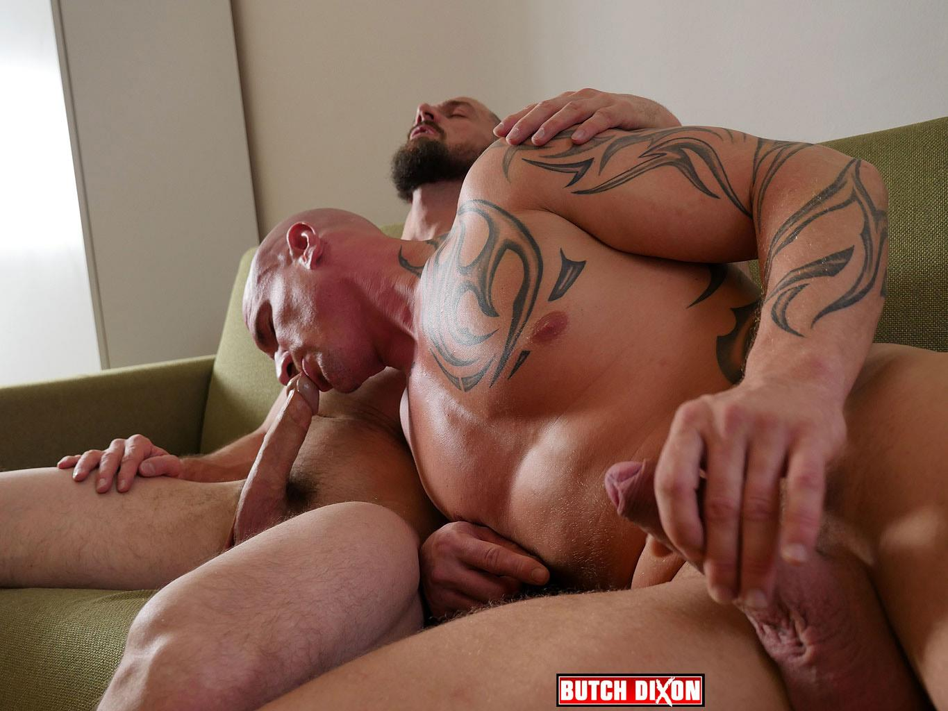 Butch Dixon Erik Lenn and Mike Bourne Masculine Guys Fucking Bareback Amateur Gay Porn 08