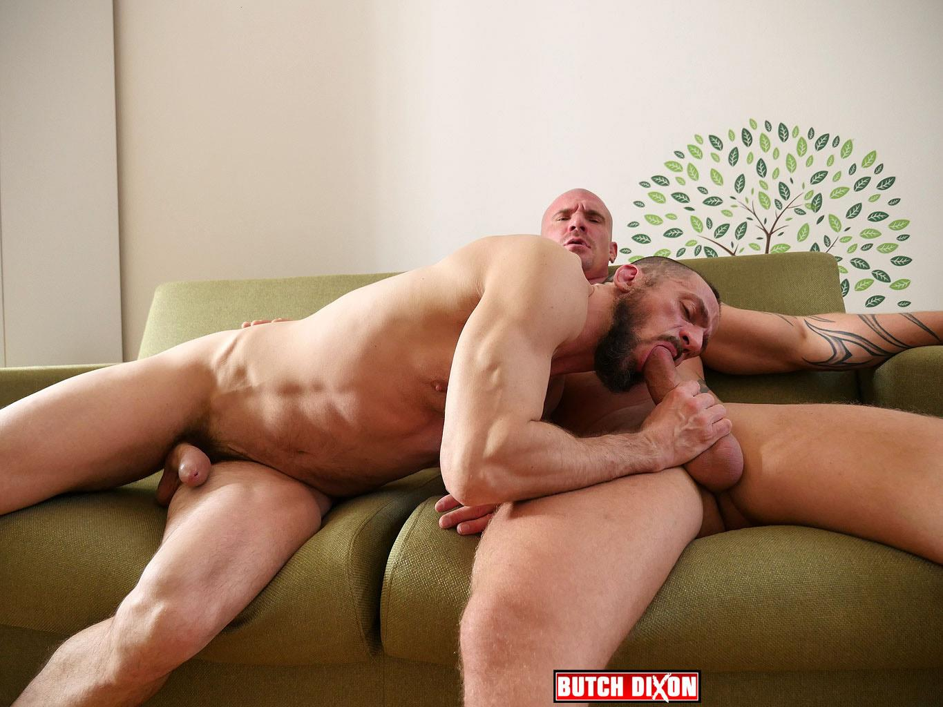 Butch Dixon Erik Lenn and Mike Bourne Masculine Guys Fucking Bareback Amateur Gay Porn 11