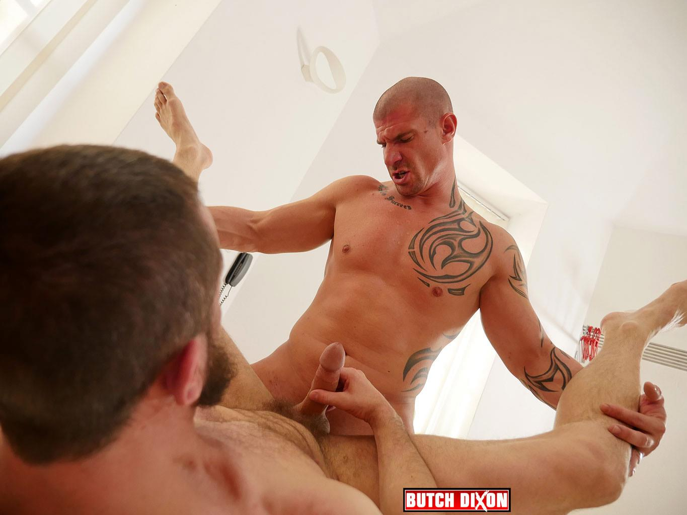 Butch Dixon Erik Lenn and Mike Bourne Masculine Guys Fucking Bareback Amateur Gay Porn 18