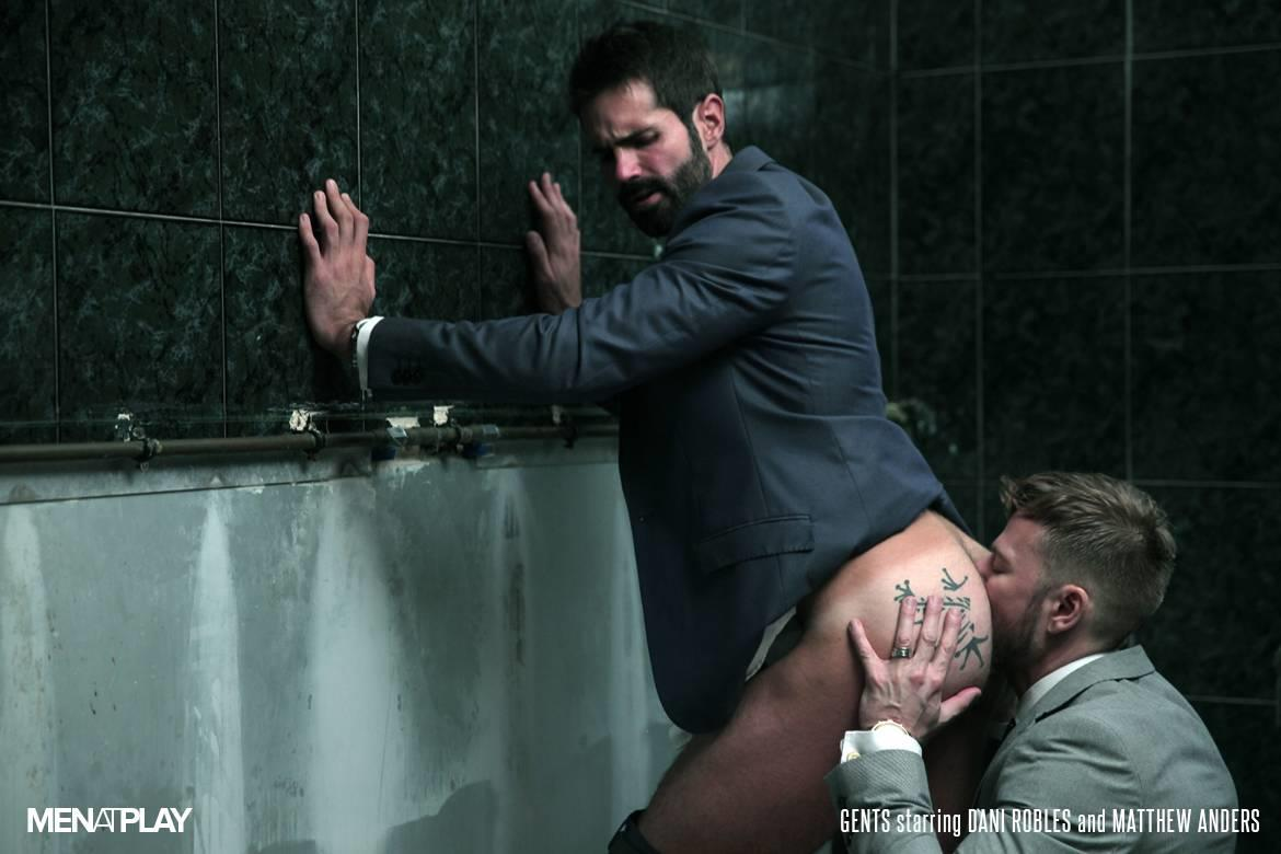 Men At Play Matthew Anders and Dani Robles Men In Suits With Big Cocks Fucking Amateur Gay Porn 19
