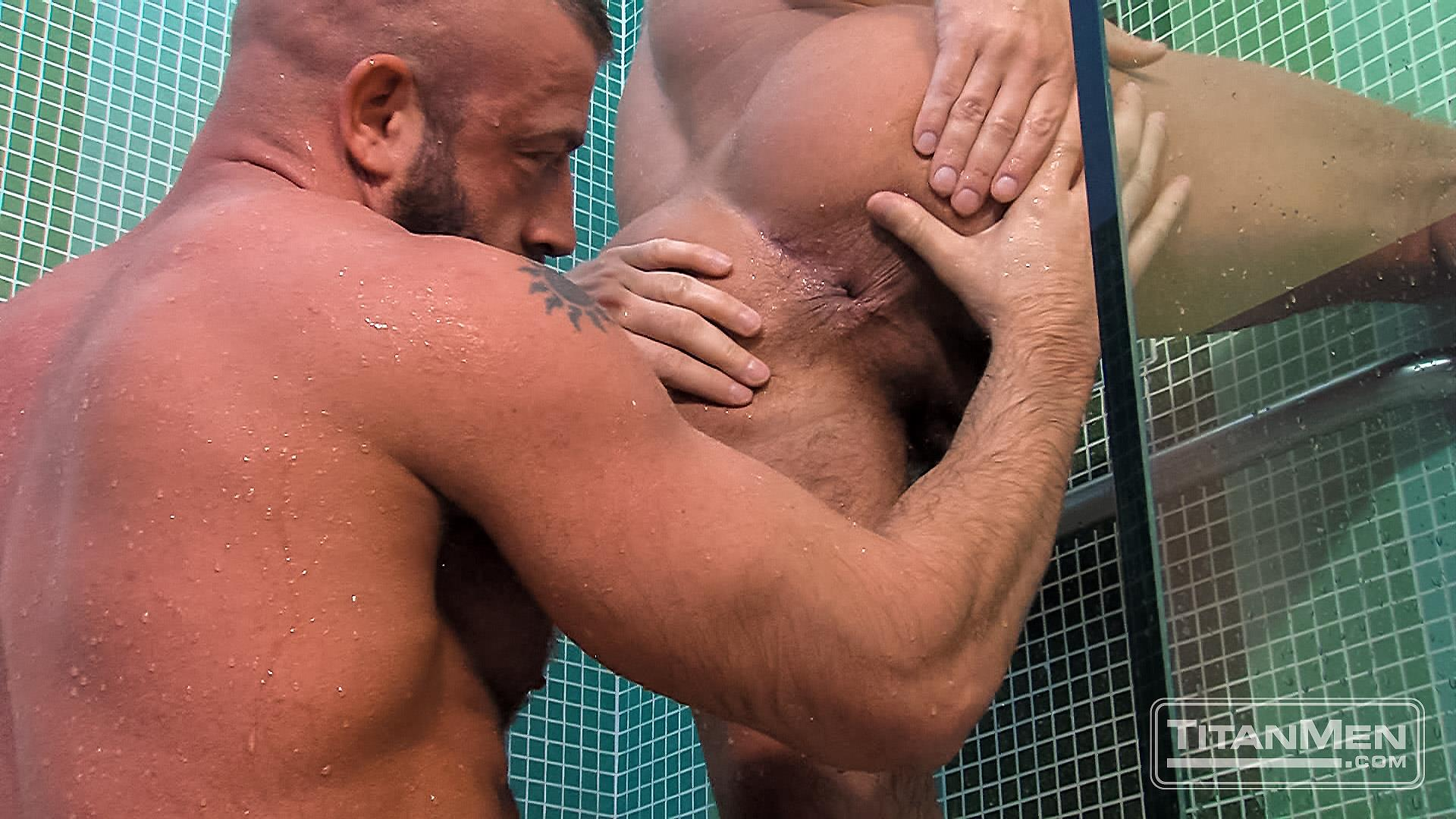 Titanmen Titan Hunter Marx and Dirk Caber Hairy Muscle Daddy Fuck Amateur Gay Porn 24