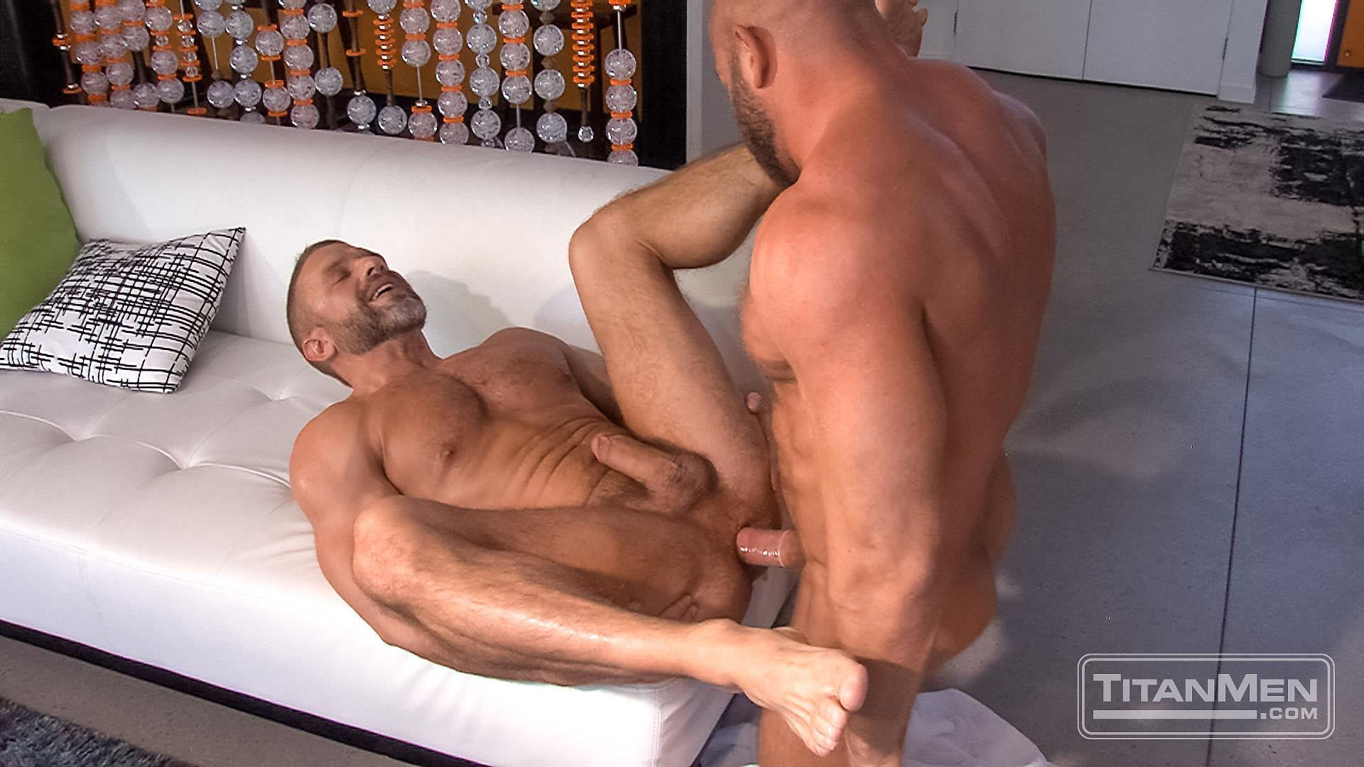Titanmen Titan Hunter Marx and Dirk Caber Hairy Muscle Daddy Fuck Amateur Gay Porn 41