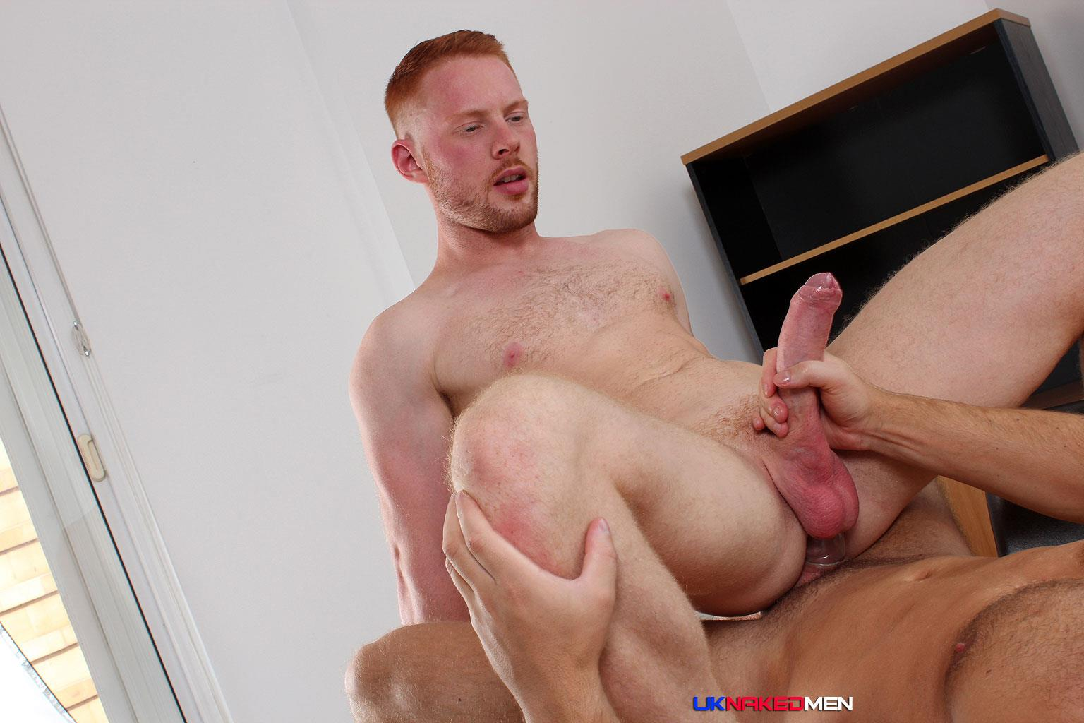 UK Naked Men Logan Moore and Andro Maas Redhead Gets Fucked By Big Uncut Cock Amateur Gay Porn 17