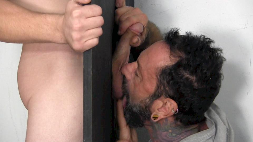 Straight Fraternity Donny Forza Straight Guy Getting Sucked Through Gloryhole Amateur Gay Porn 07