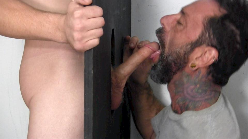 Straight Fraternity Donny Forza Straight Guy Getting Sucked Through Gloryhole Amateur Gay Porn 08