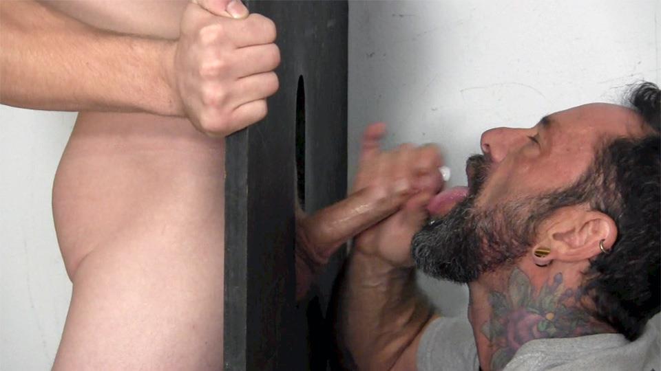 Straight Fraternity Donny Forza Straight Guy Getting Sucked Through Gloryhole Amateur Gay Porn 10