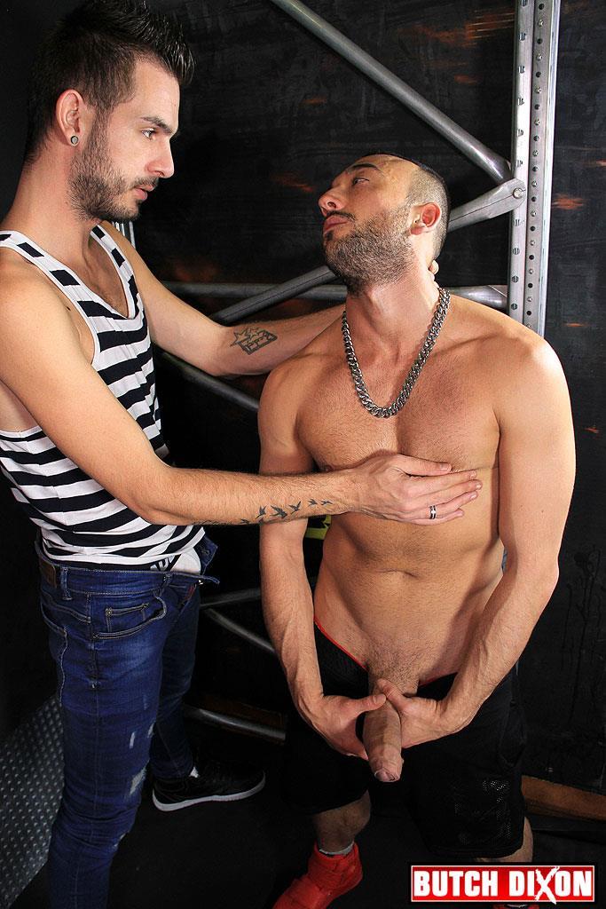 Butch Dixon Abraham Montenegro and Josh Meza Huge Uncut Cock Bareback Amateur Gay Porn 04