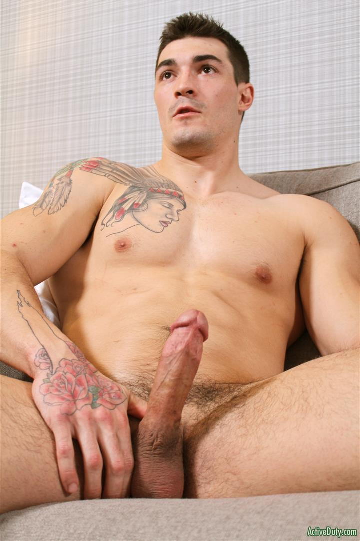 Active Duty Scott Straight Muscular Army Jock Naked Jerk Off Amateur Gay Porn 11