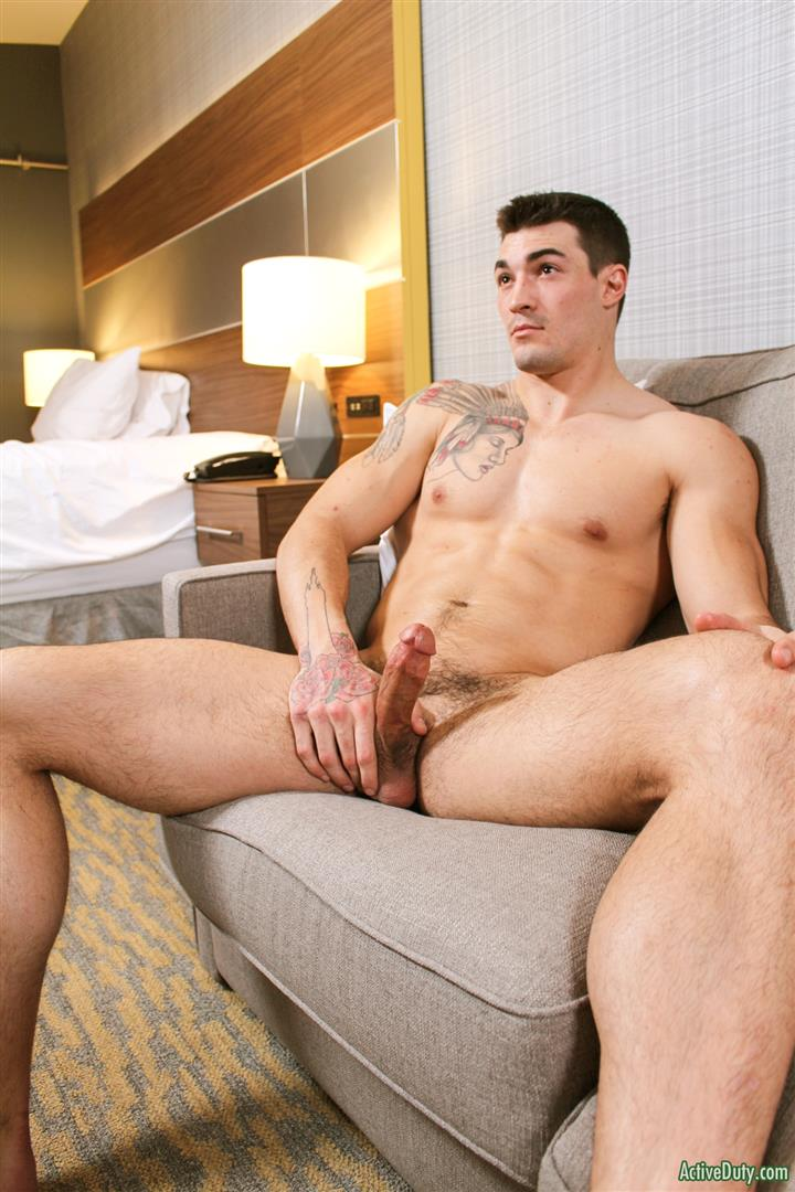 Active Duty Scott Straight Muscular Army Jock Naked Jerk Off Amateur Gay Porn 13