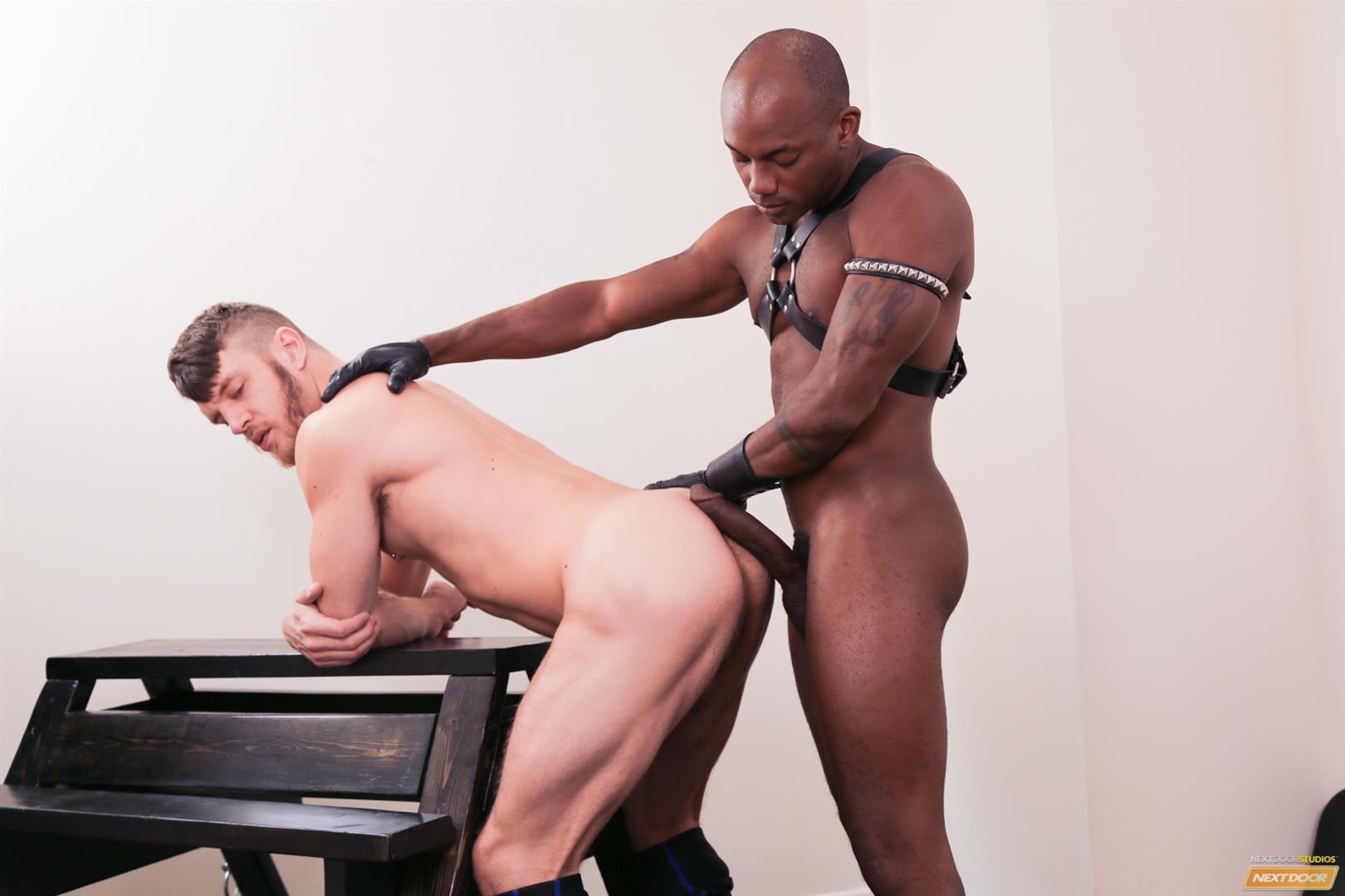 Next Door Ebony Osiris Blade and Caleb King Big Black Cock In White Ass Amateur Gay Porn 14