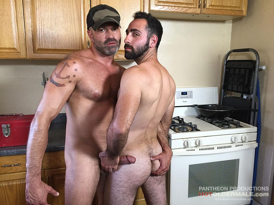 Hot Older Male Dave Rex and Anthony Naxos Thick Daddy Cock Amateur Gay Porn 02
