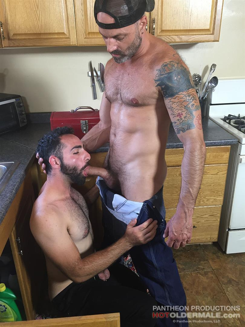 Hot Older Male Dave Rex and Anthony Naxos Thick Daddy Cock Amateur Gay Porn 09