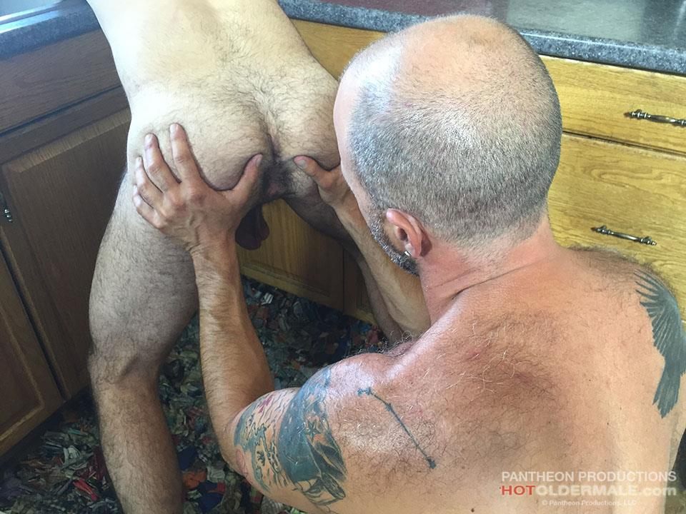 Hot Older Male Dave Rex and Anthony Naxos Thick Daddy Cock Amateur Gay Porn 12
